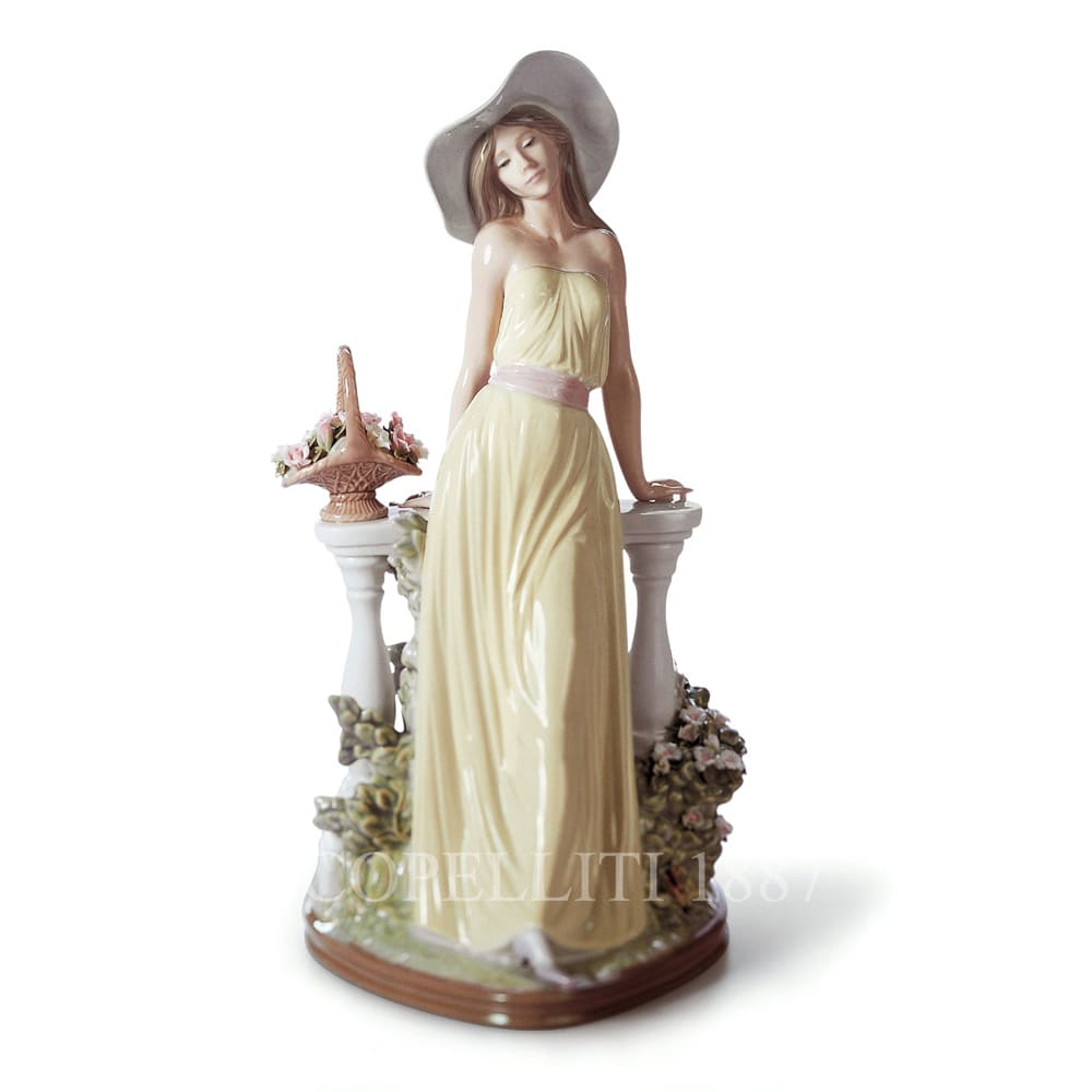 lladro time for reflection porcelain figurine