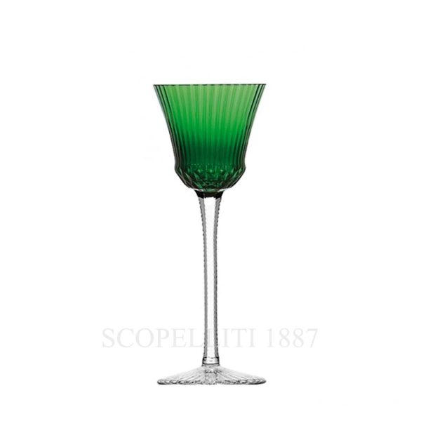saint louis apollo green crystal roemer wine glass