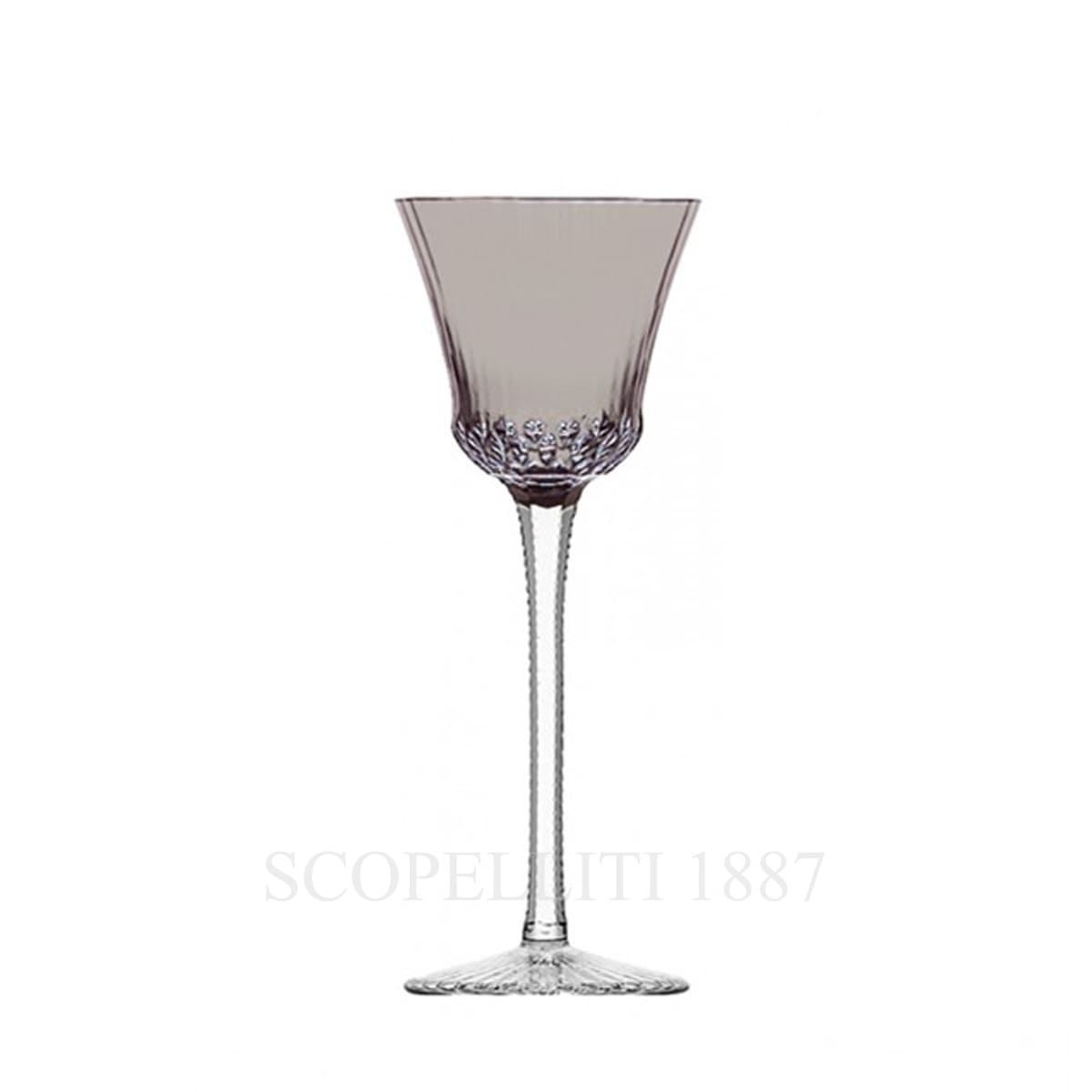 saint louis apollo grey crystal roemer wine glass