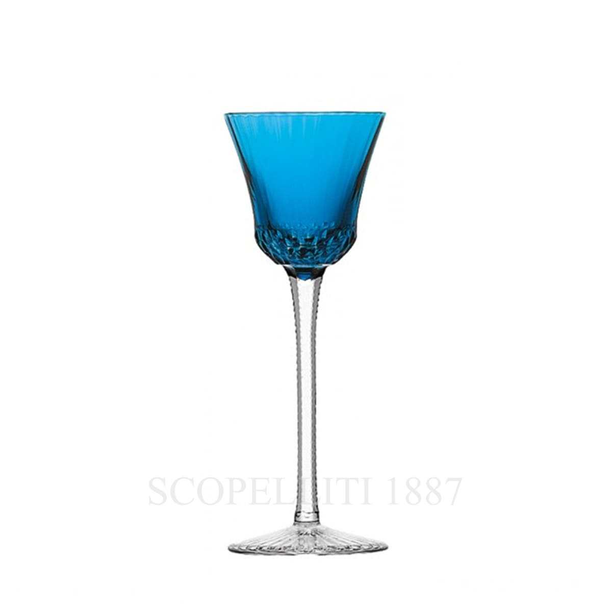saint louis apollo light blue crystal roemer wine glass