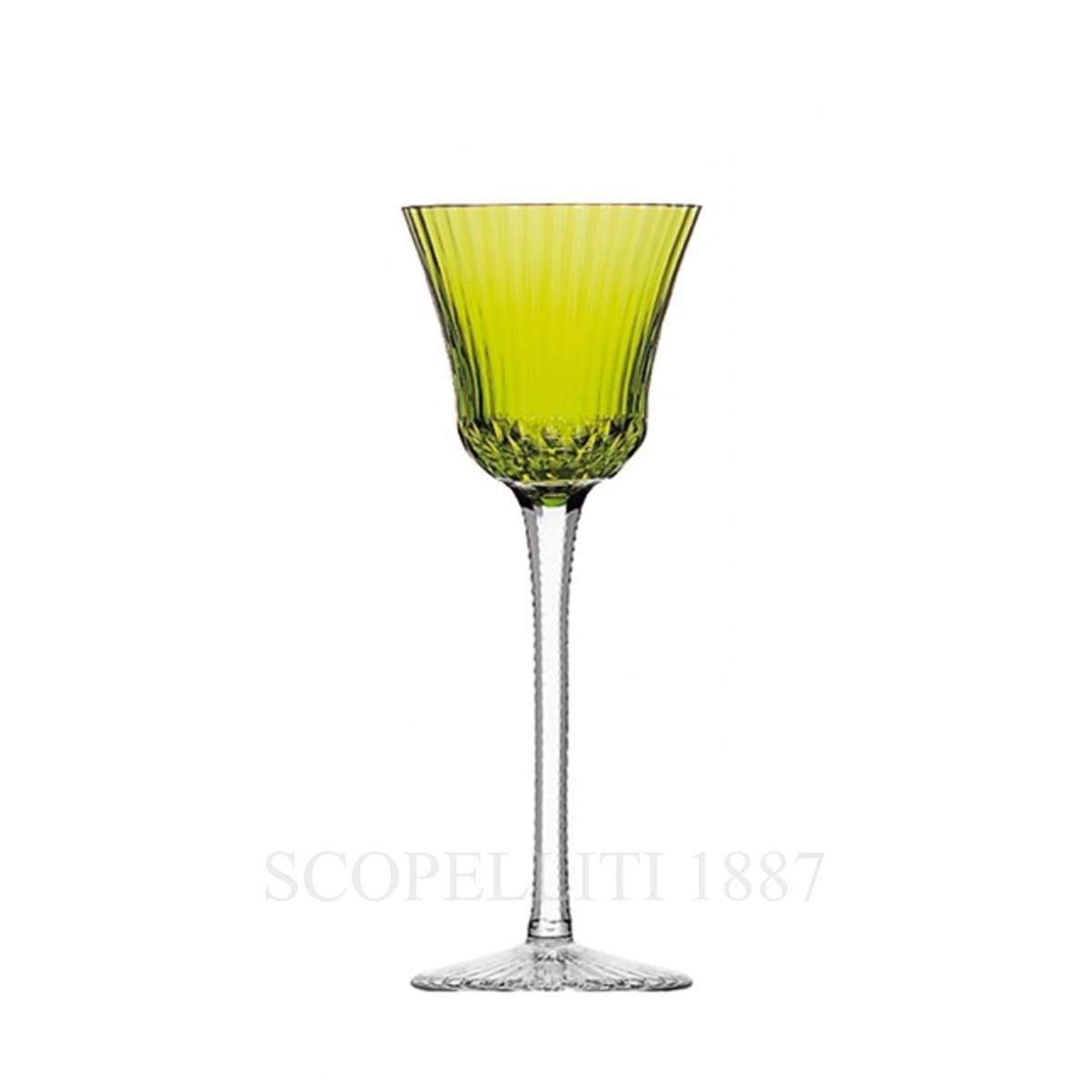 saint louis apollo light green crystal roemer wine glass