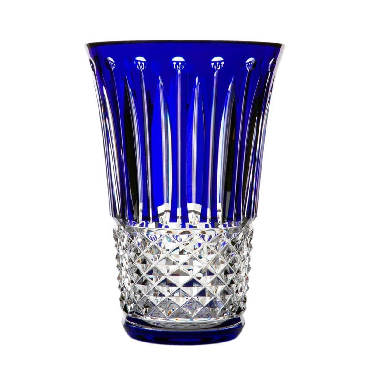 saint louis tommyssimo blue crystal designer vase