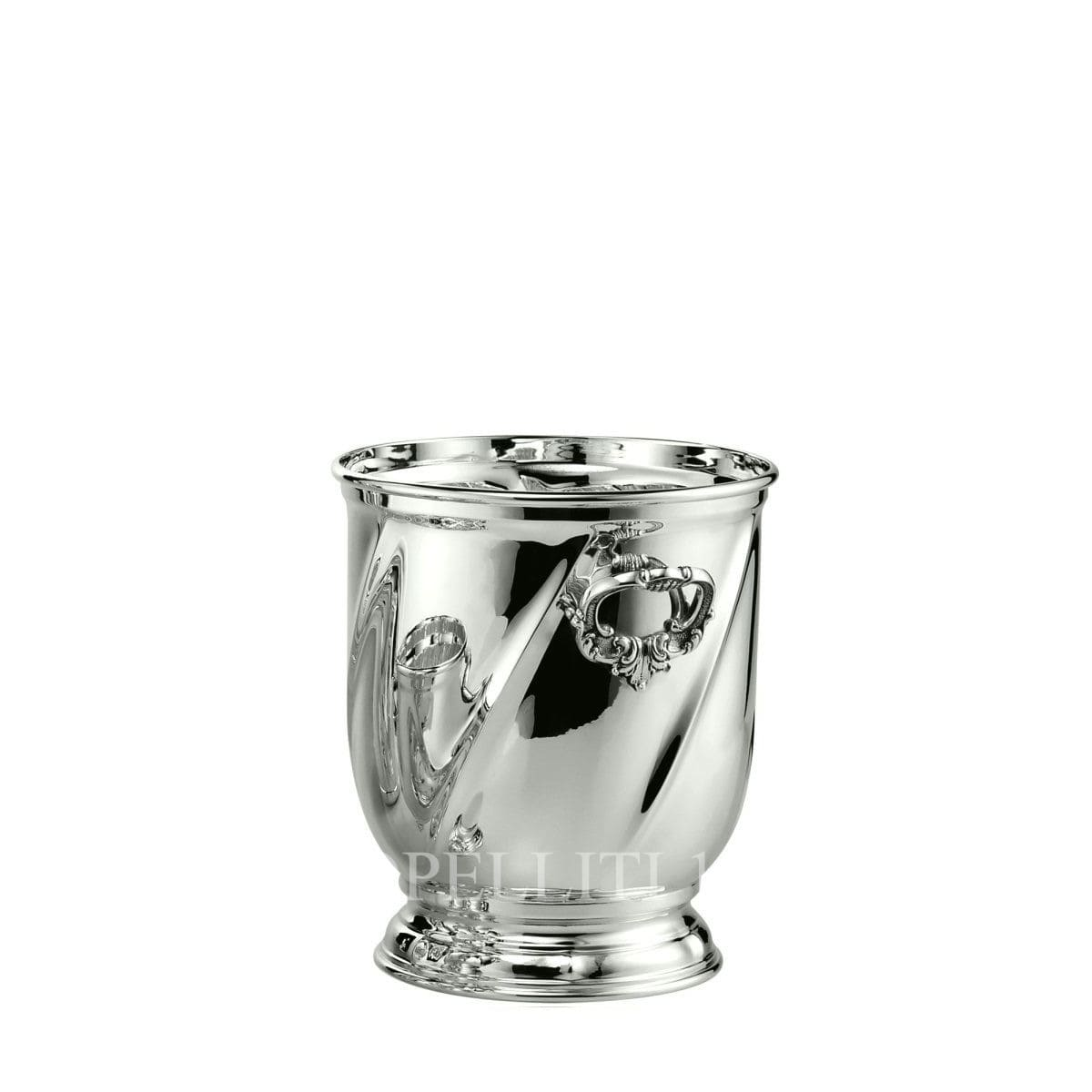 schiavon torsè real 925 sterling silver ice bucket with base