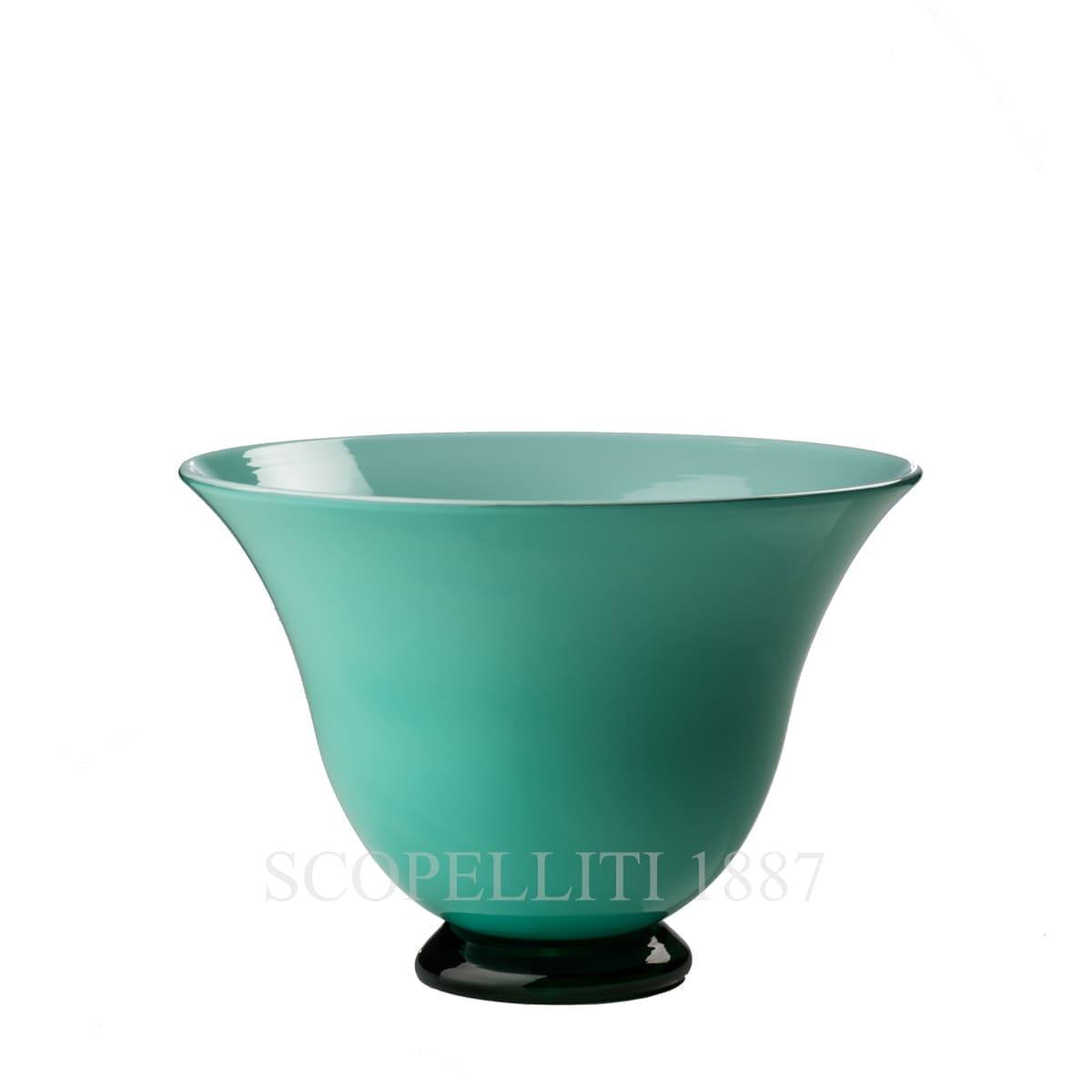 venini italian design murano glass anni trenta vase mint green