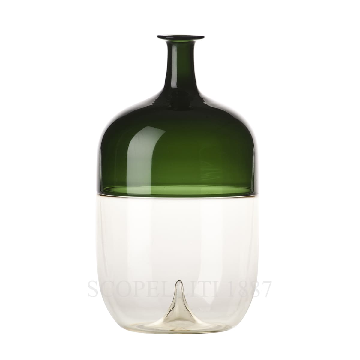 Venini Bolle straw yellow/grass green 503.02 Bottle