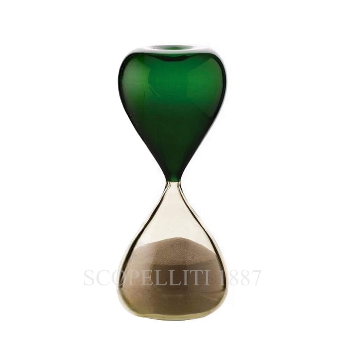 venini clessidre hourglass italian design green apple straw yellow limited edition
