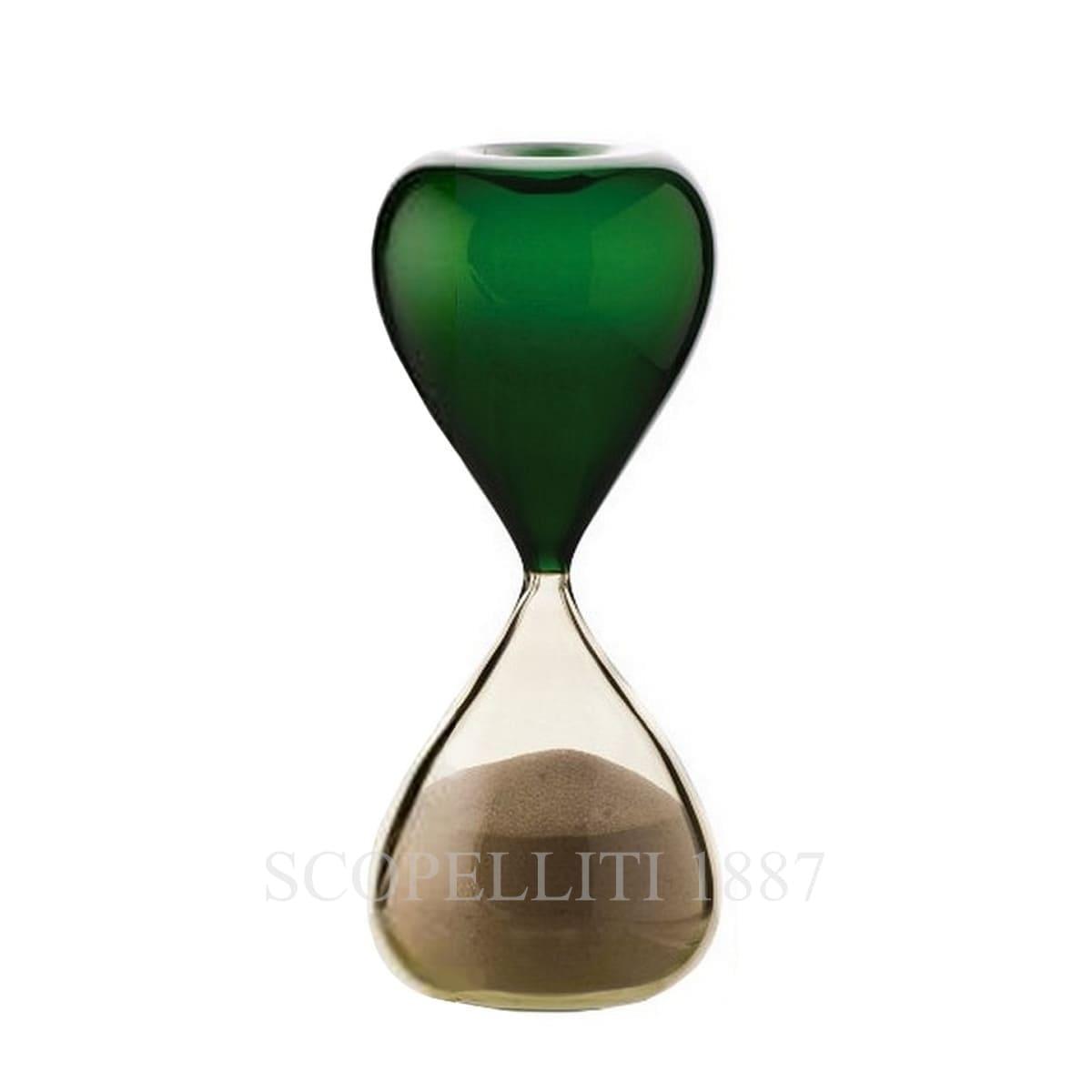 venini clessidre hourglass italian design green apple straw yellow limited edition