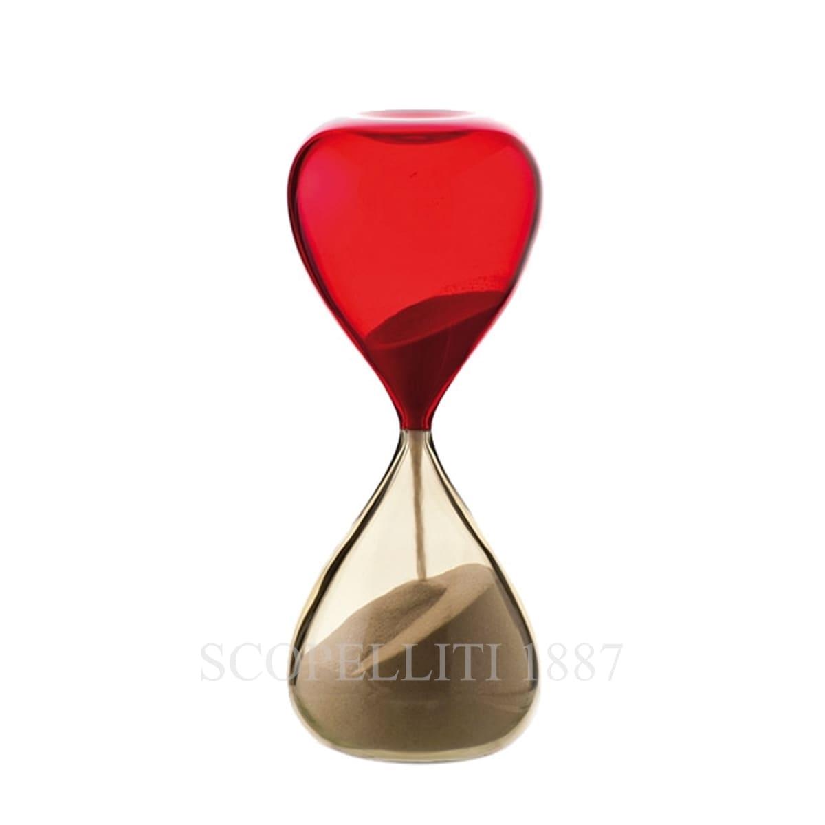 Venini Clessidre Hourglass 420.06 straw yellow/red