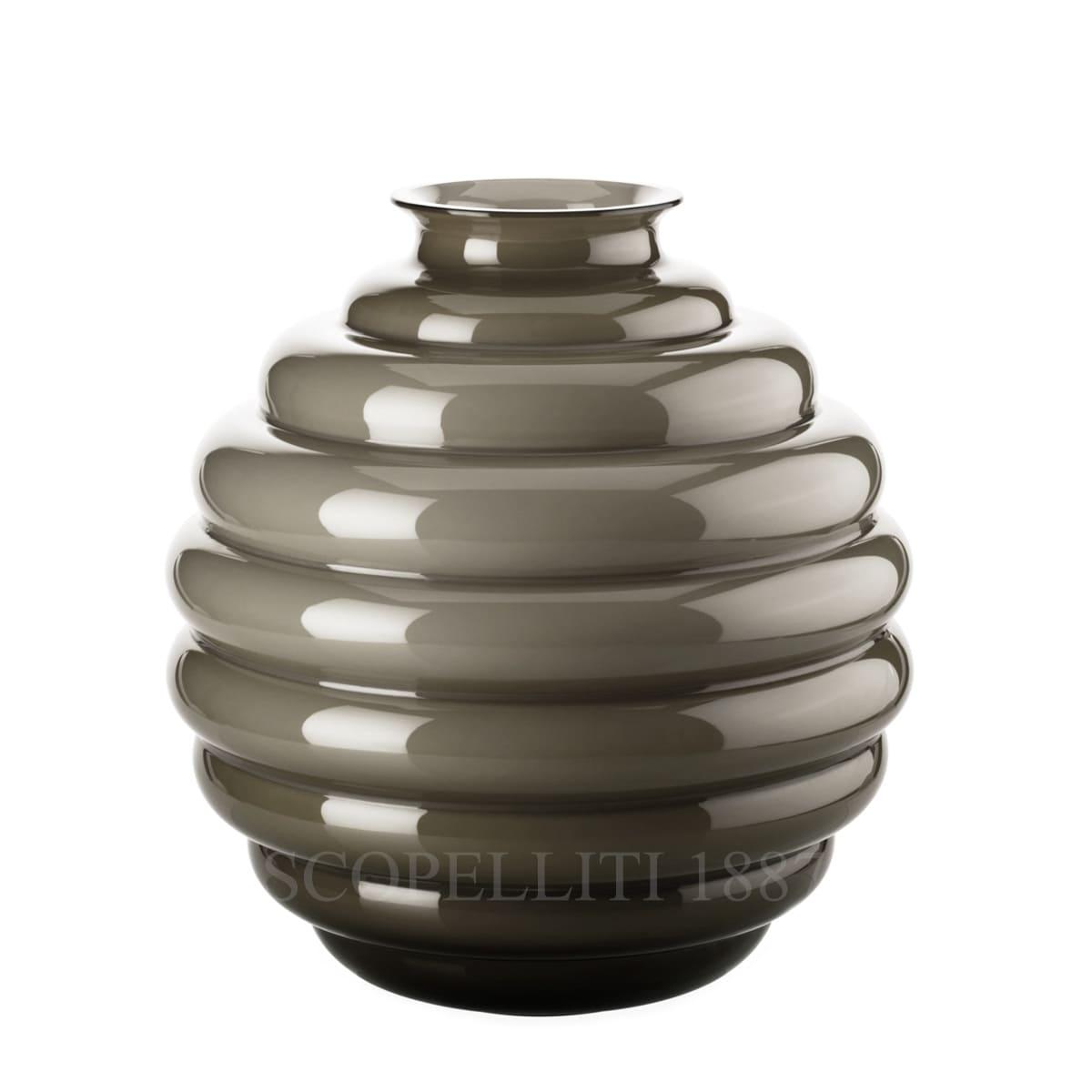 venini italian design deco vase large taupe