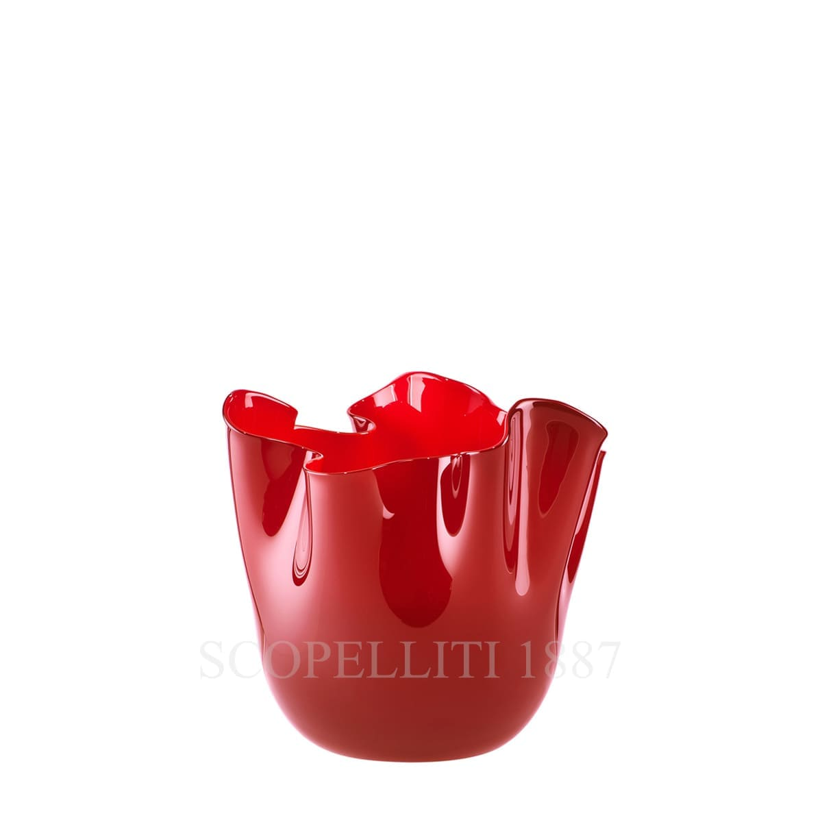 fazzoletto venini small vase red