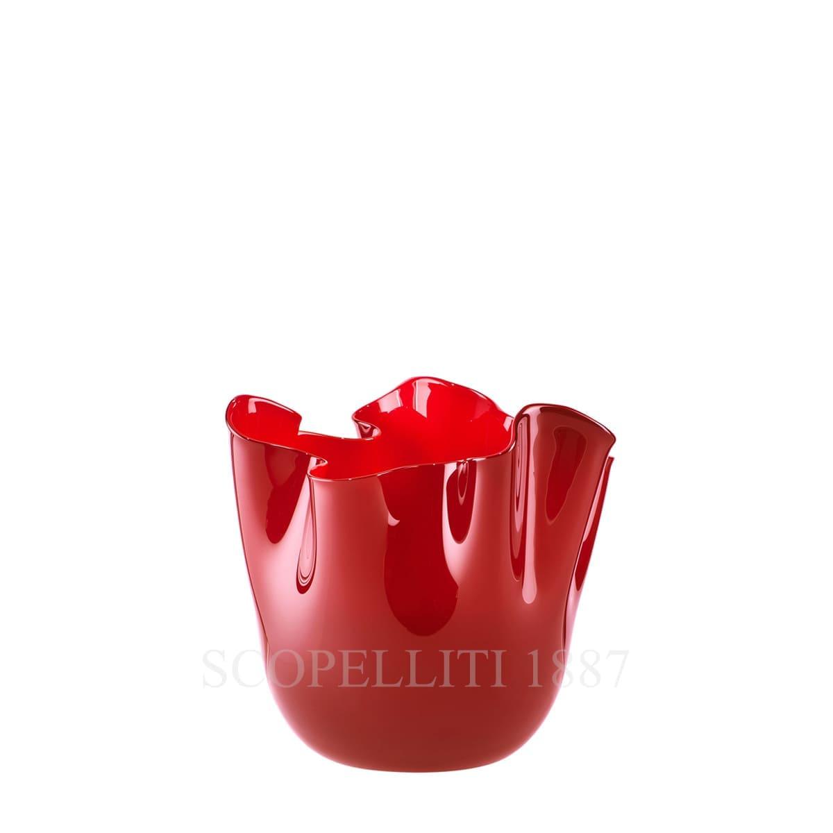 fazzoletto venini small vase red