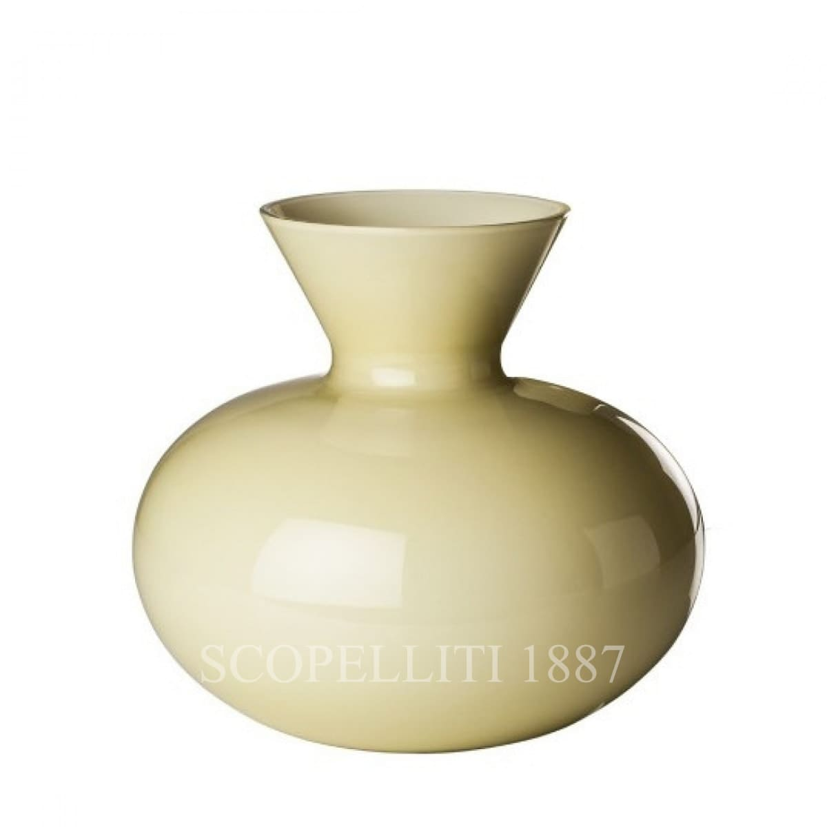 Venini Idria large Vase straw yellow 706.41