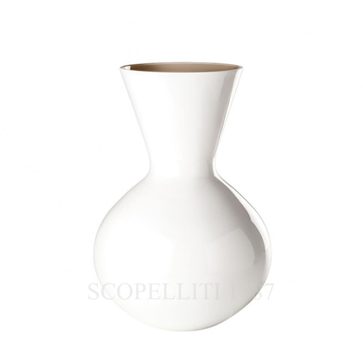 Venini Idria tall Vase milk white taupe 706.42