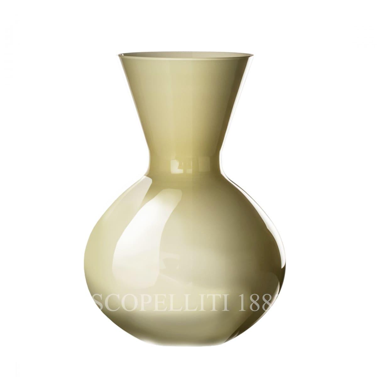 venini idria italian designer murano glass vase straw yellow