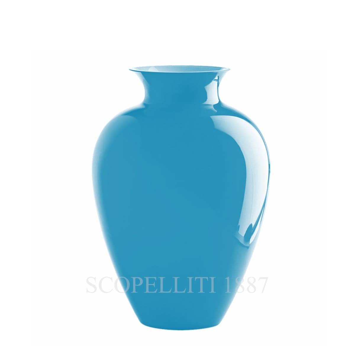 venini labuan italian designer murano glass vase aquamarine