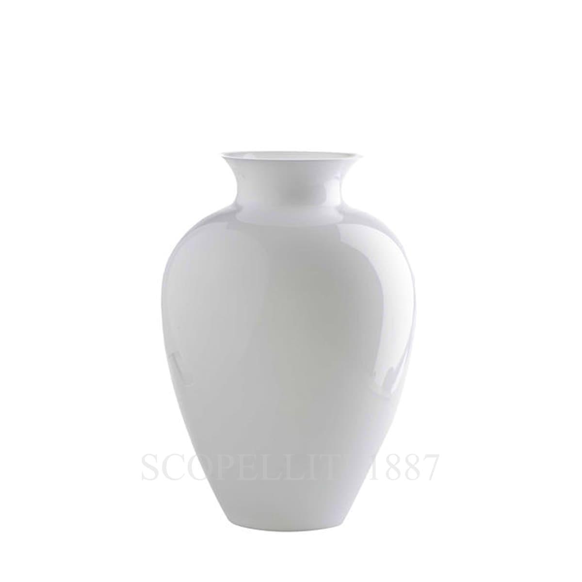 venini labuan italian designer murano glass vase milk white