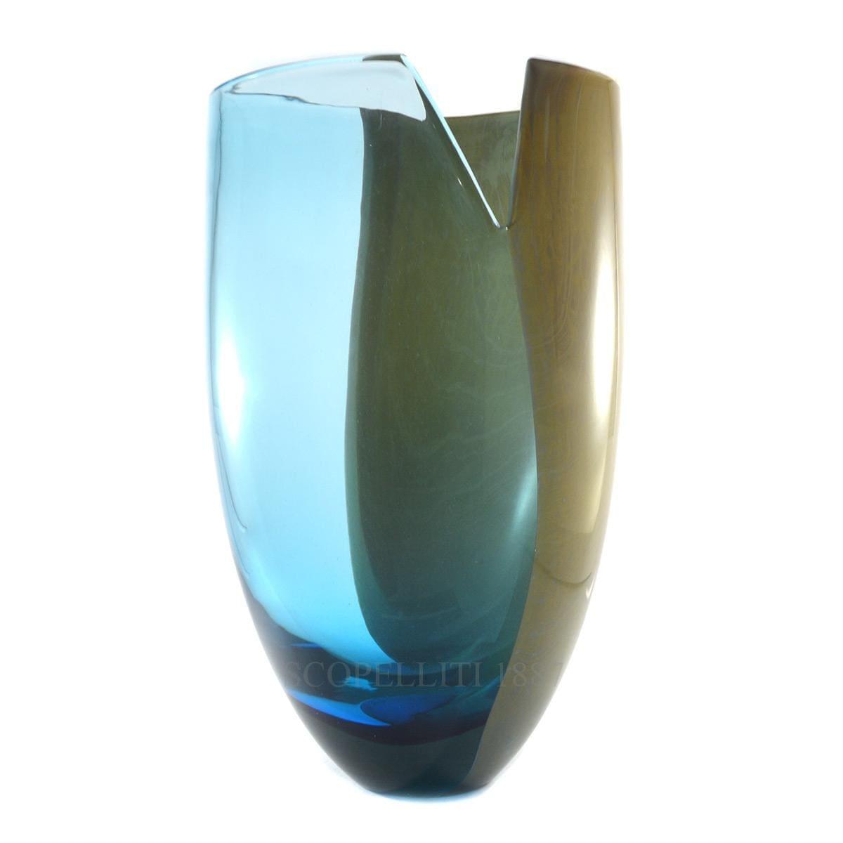 venini italian designer le sabbie vase murano glass