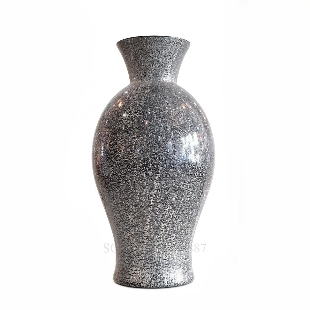 venini lucenti italian design black vase