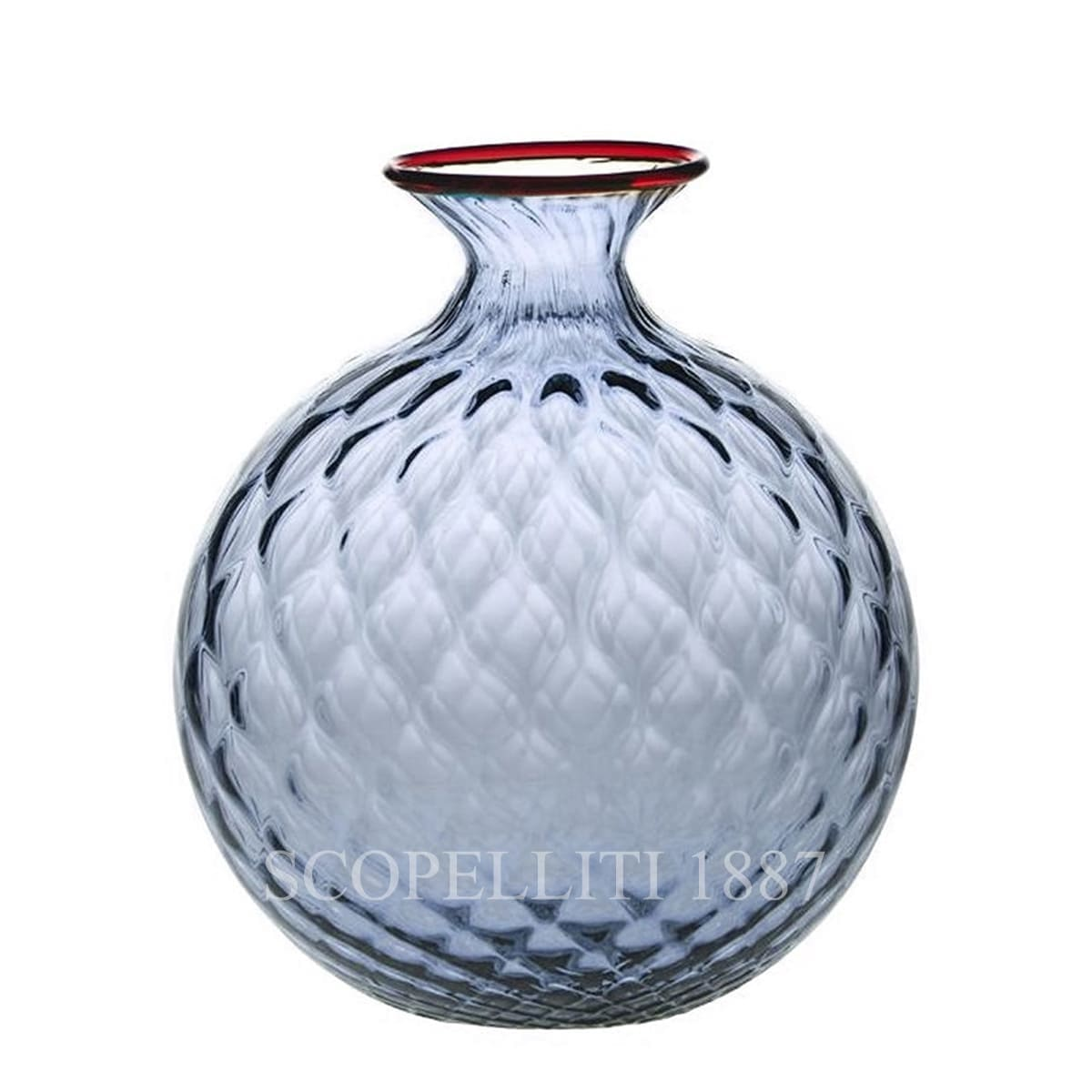 venini murano glass italian monofiore balloton vase limited edition grape