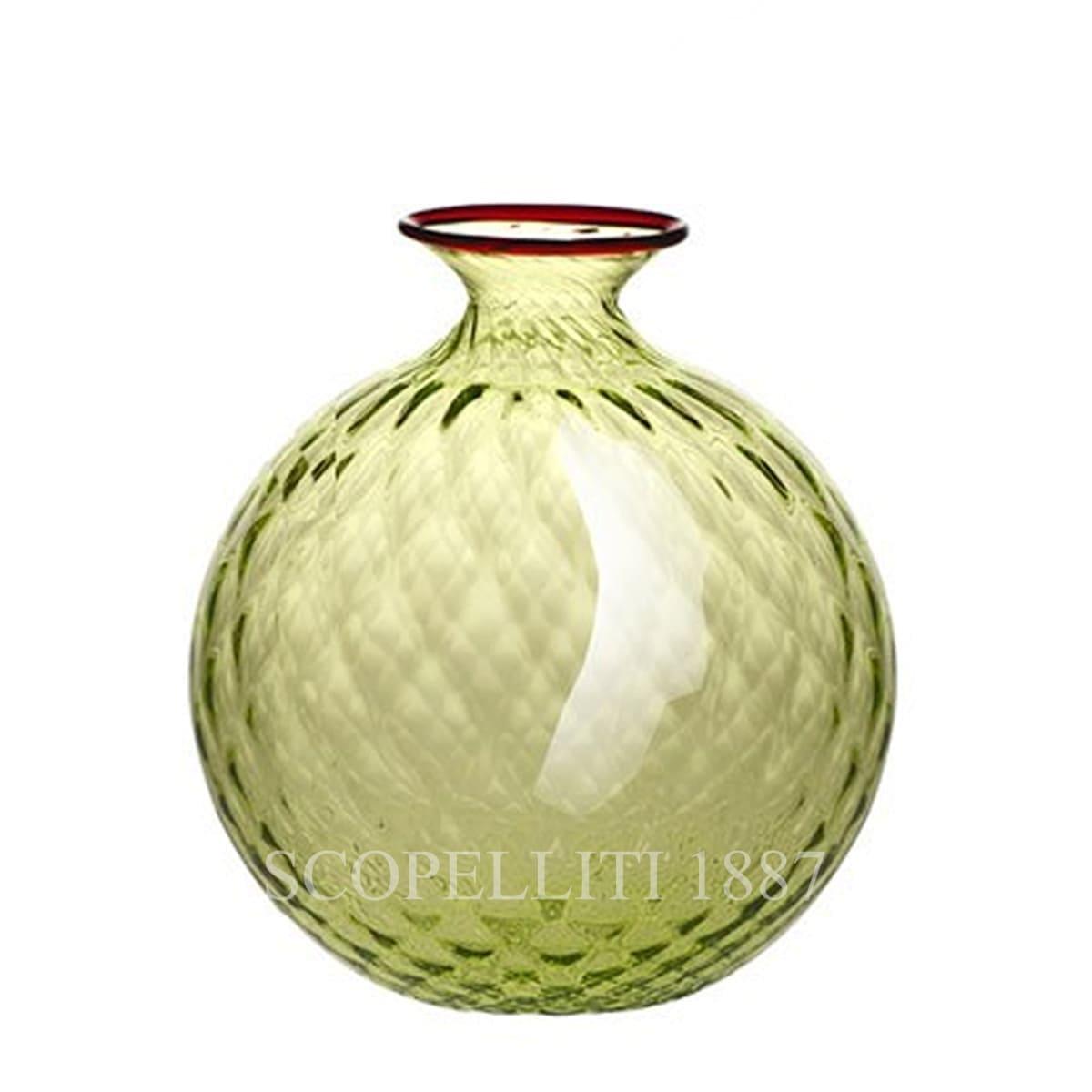 venini murano glass italian monofiore balloton vase limited edition bamboo