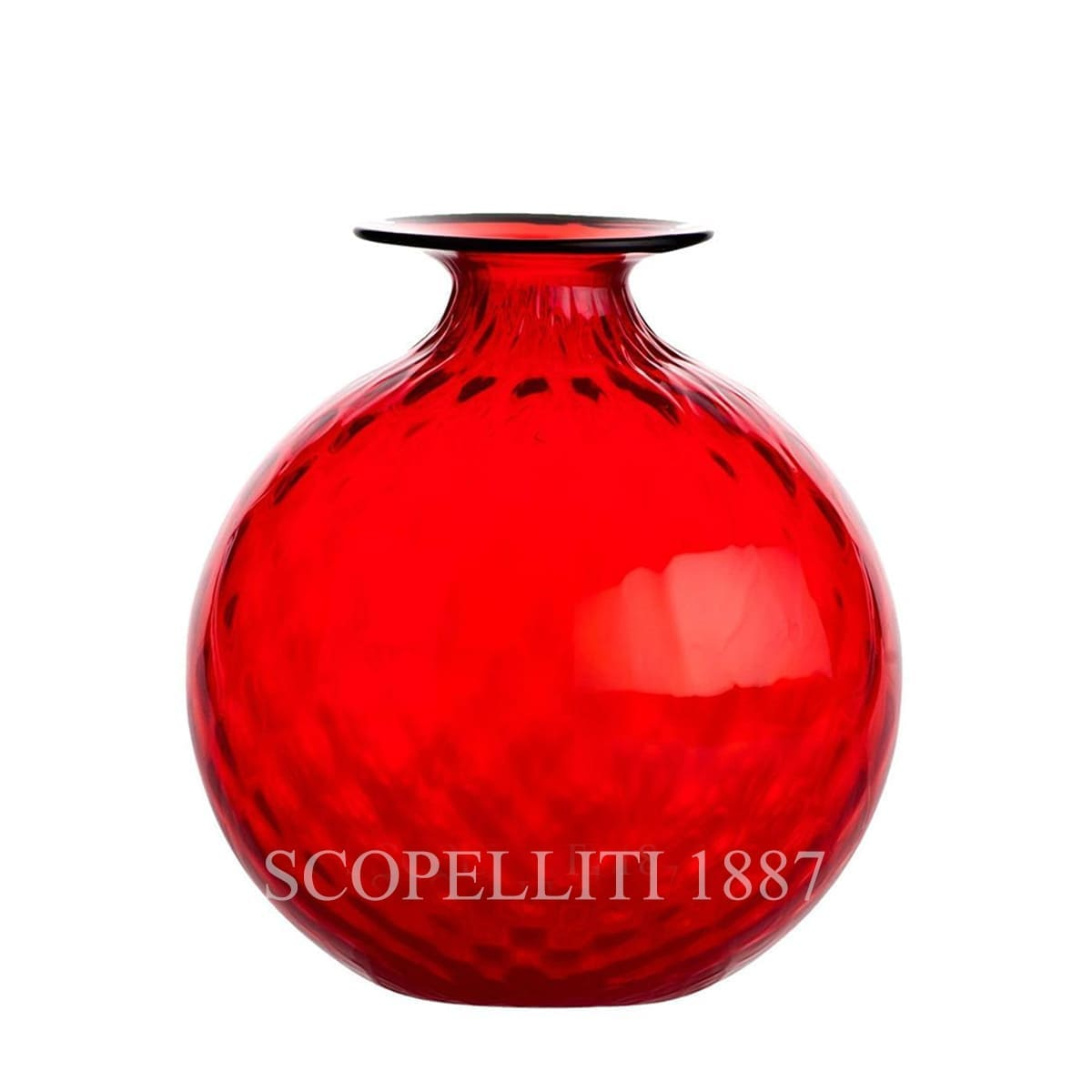 Venini Monofiore Balloton Vase medium red
