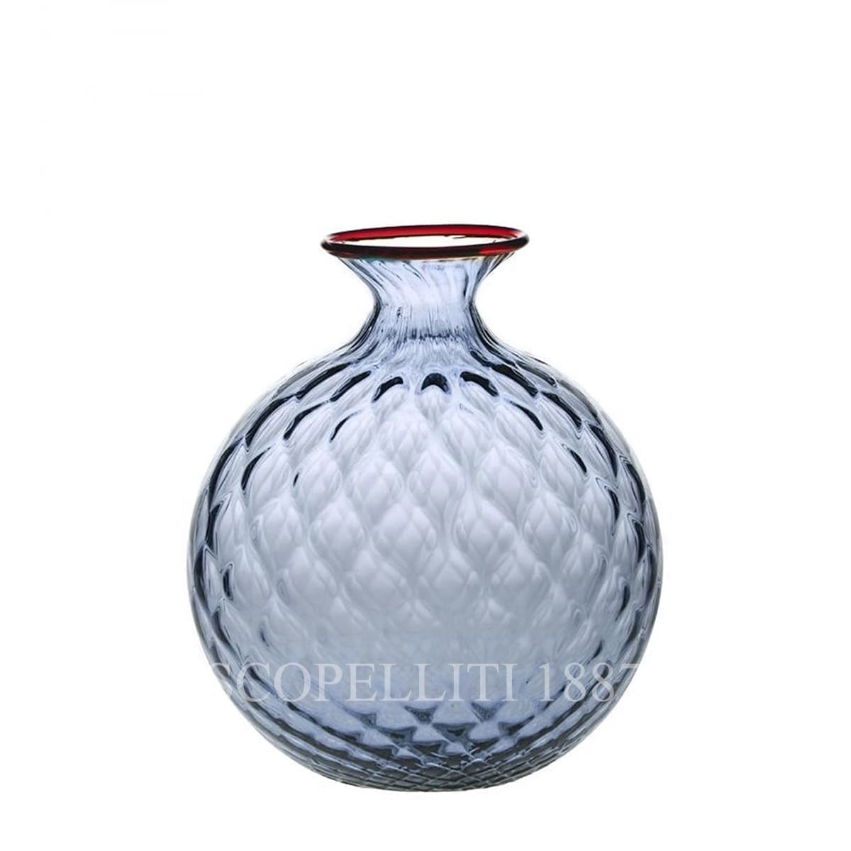 venini murano glass italian monofiore balloton vase limited edition grape