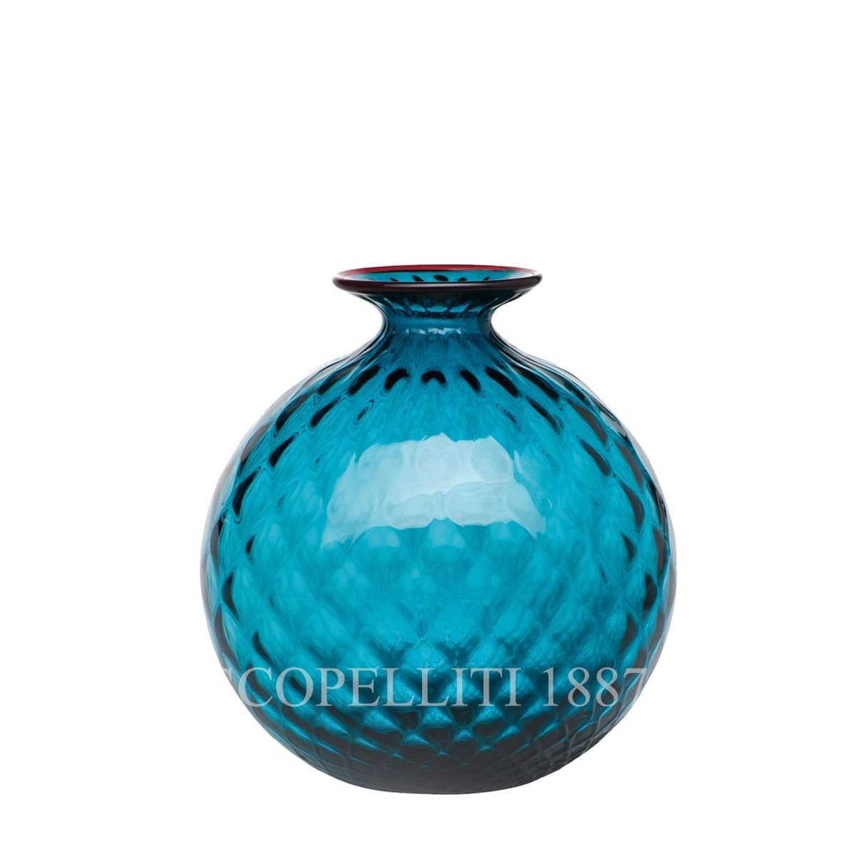 venini murano glass italian monofiore balloton vase limited edition horizon