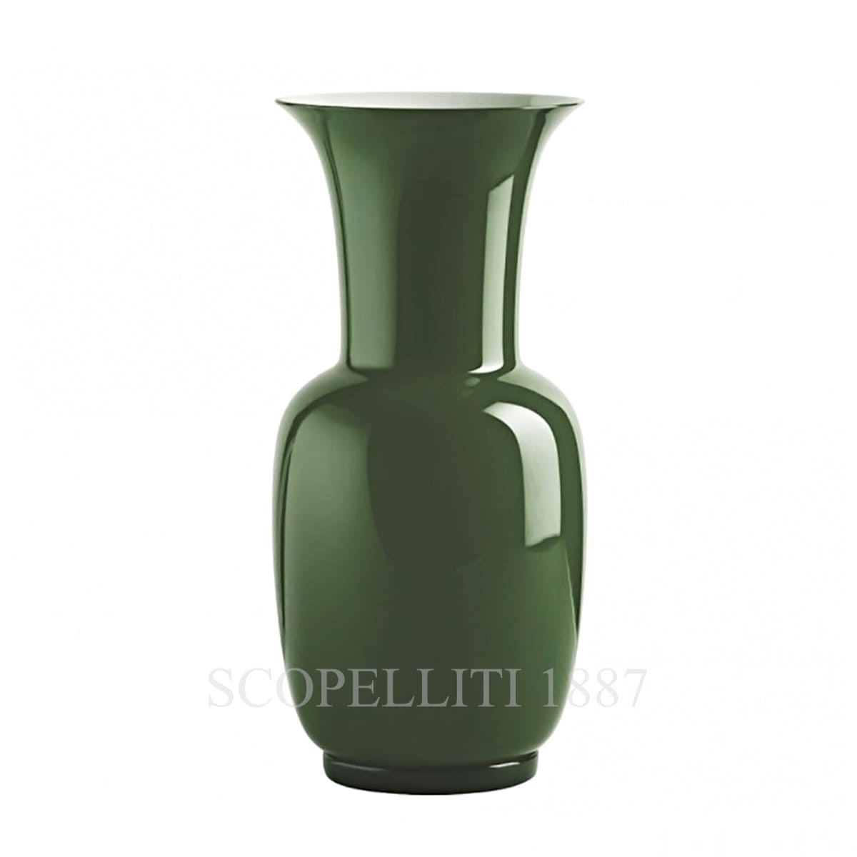 Venini Opalino Vase large apple green 706.24
