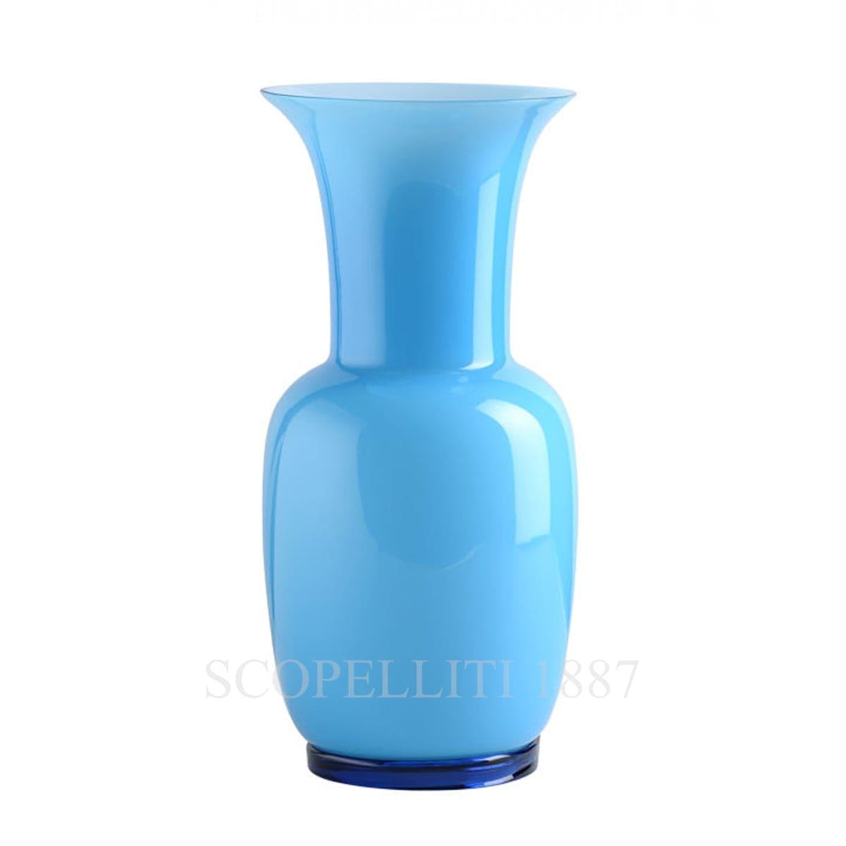 venini opaline italian murano glass vase turquoise
