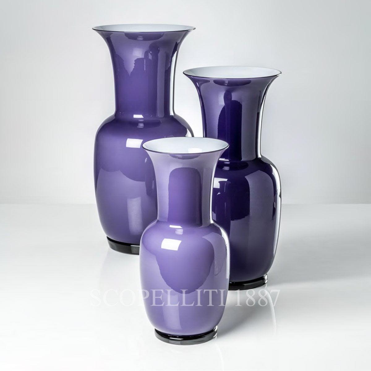 murano glass vase indigo violet