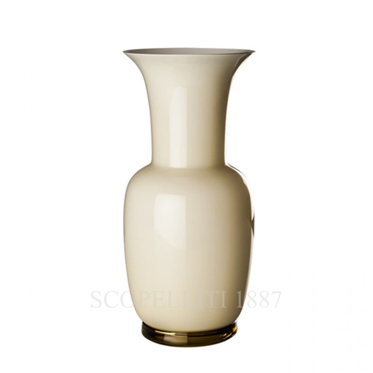 Venini Opalino Vase large straw yellow 706.24