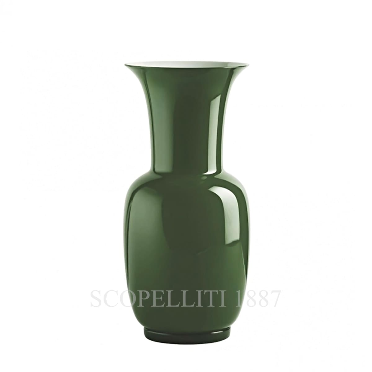 Venini Opalino Vase medium apple green 706.22