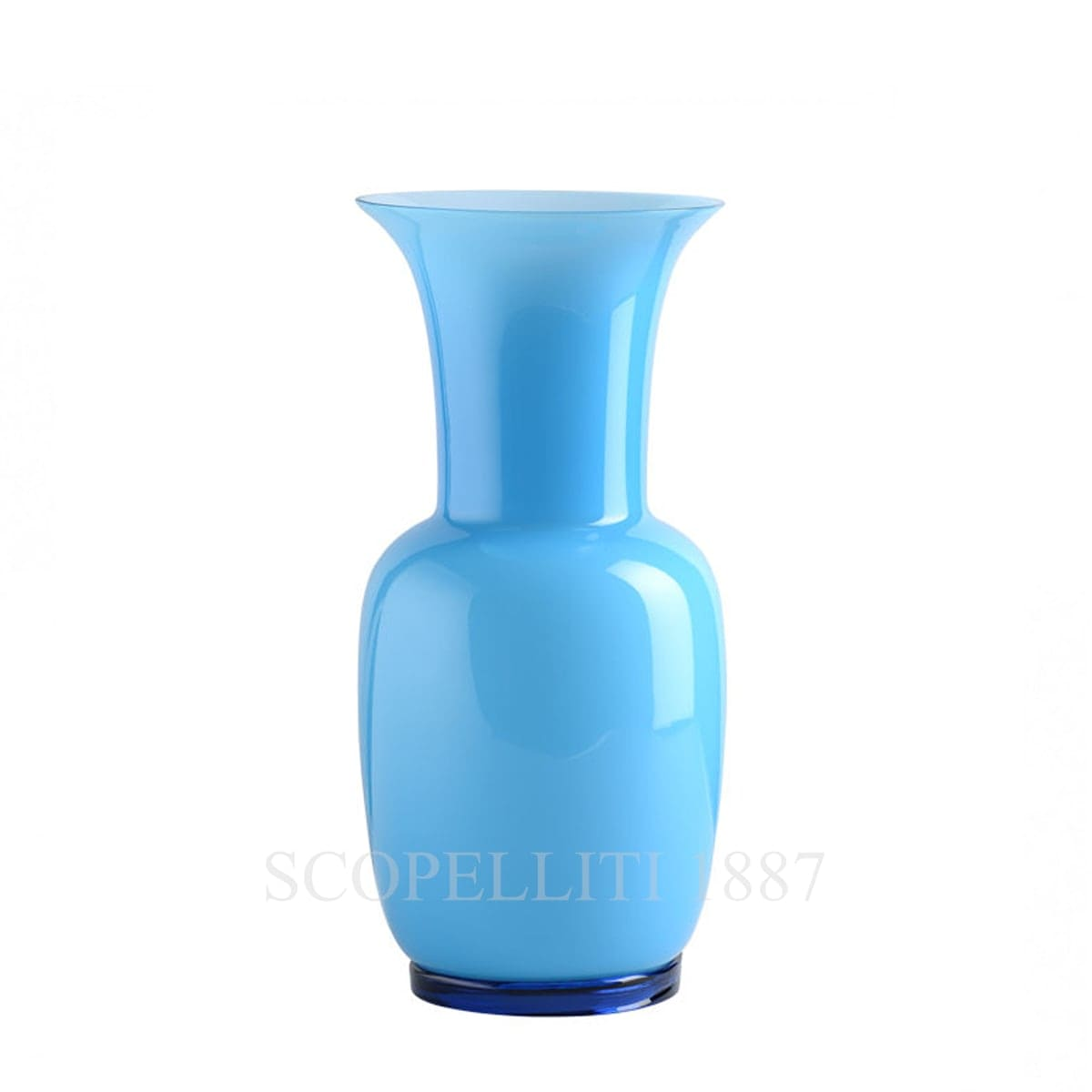 Venini Opalino Vase medium aquamarine 706.22