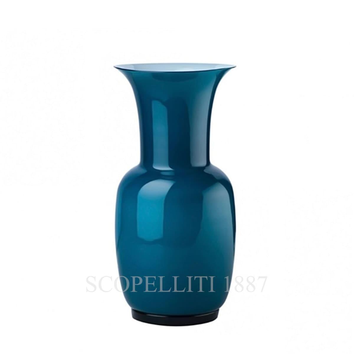venini murano glass vase opaline italy