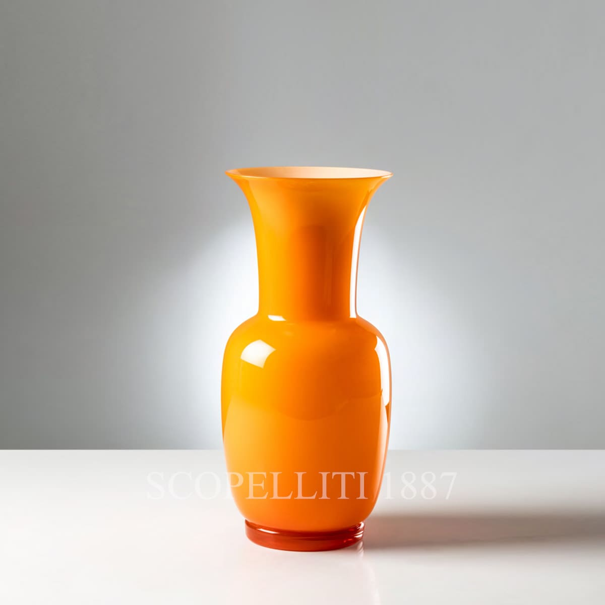 murano glass venini orange vase new color
