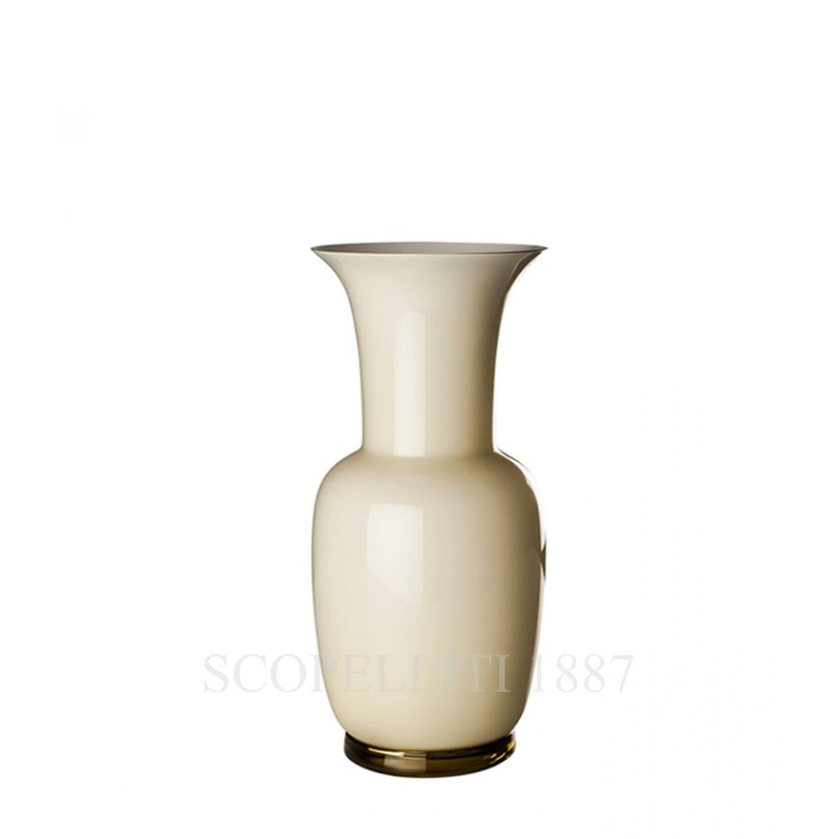 venini murano glass italian design ivory vase opalino