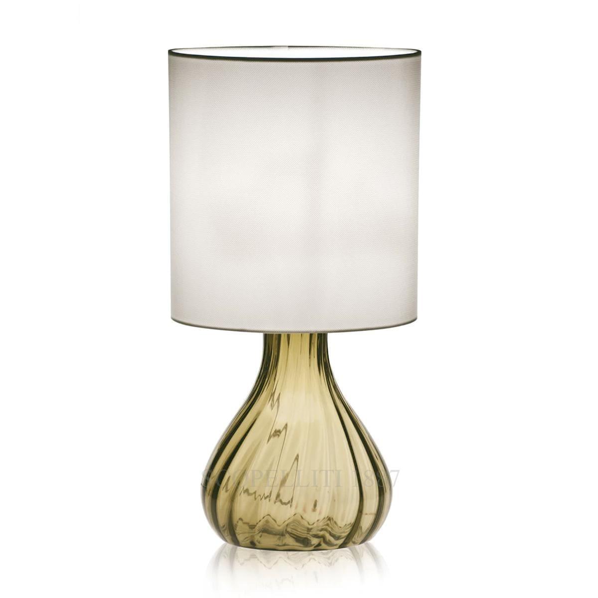 venini italian designer sand seltz table lamp murano glass