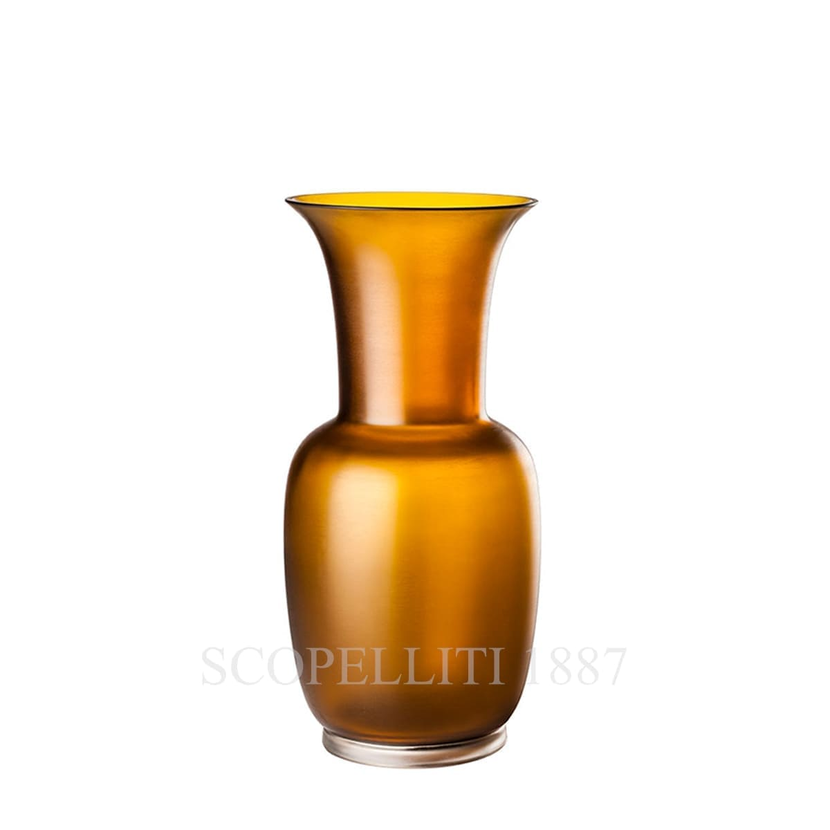 venini italian designer satin opalino murano glass vase