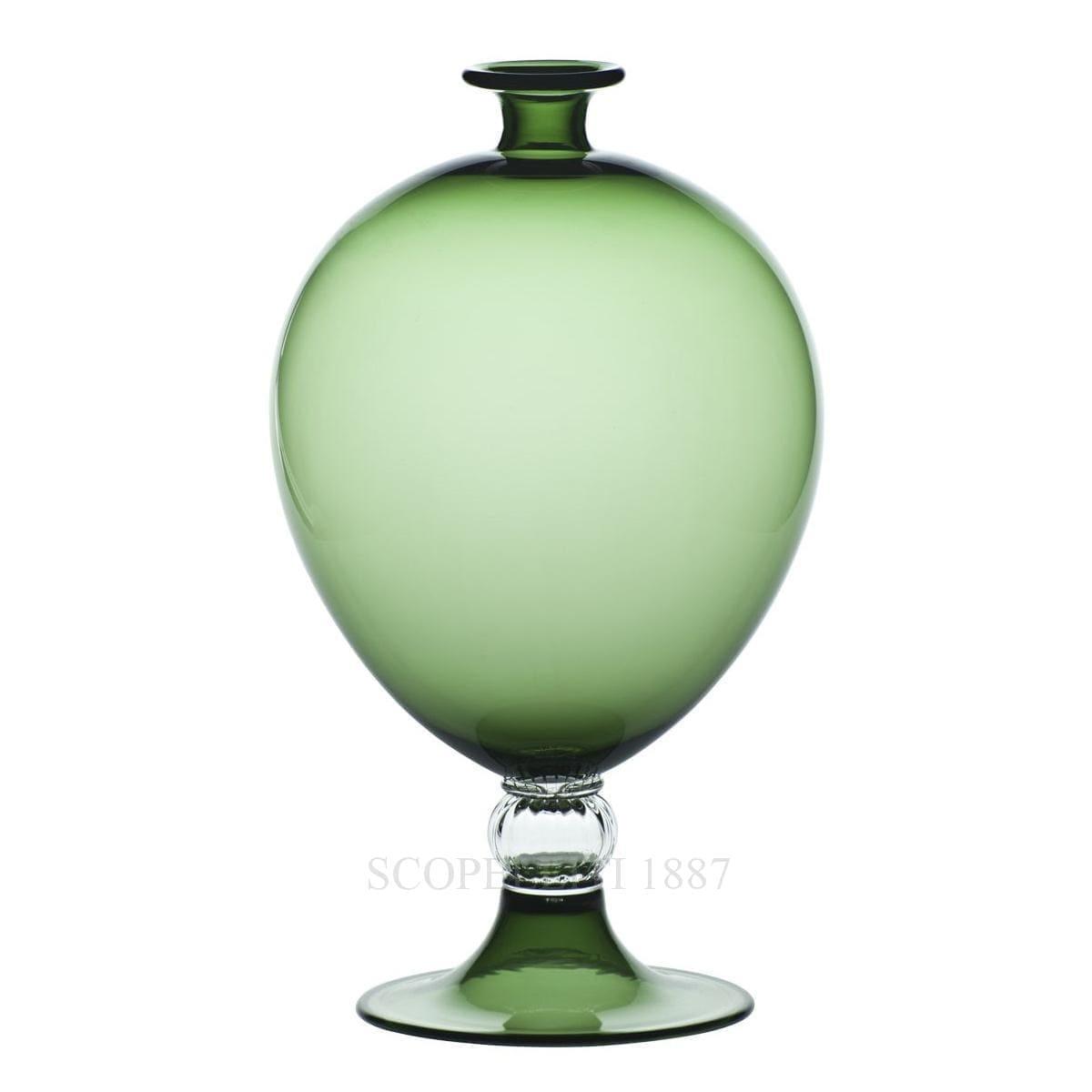 venini italian designer veronese apple green vase murano glass