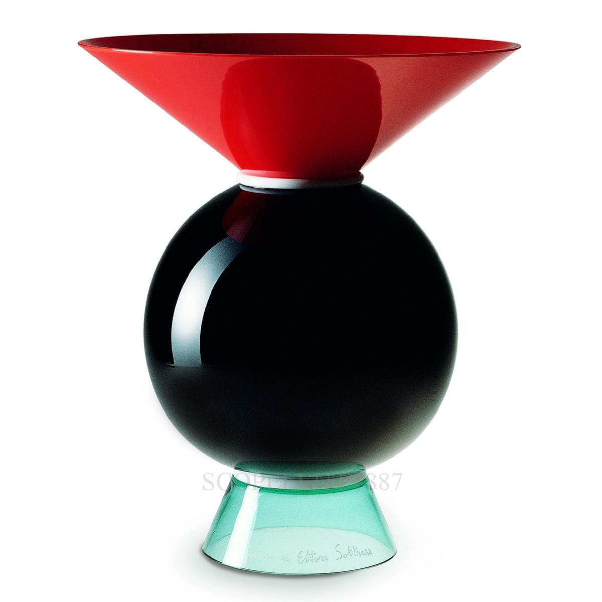 venini italian designer yemen vase murano glass