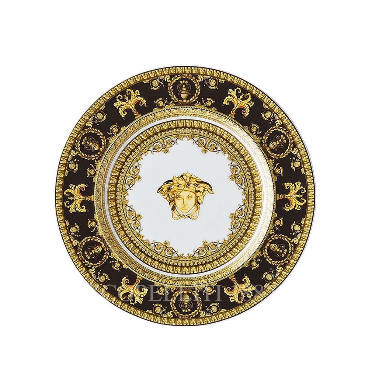 versace italian design i love baroque black small plate golden