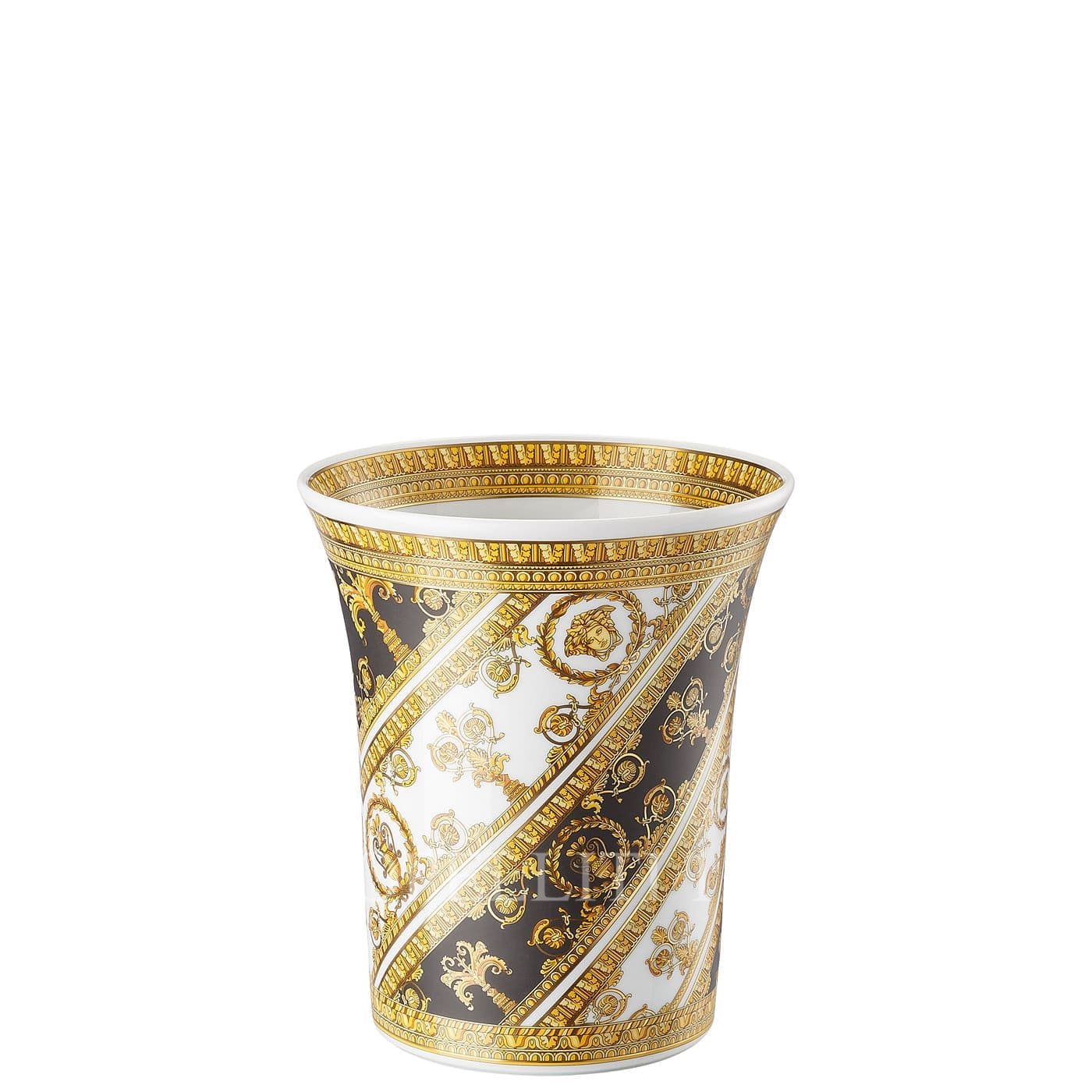 versace italian design i love baroque vase golden small