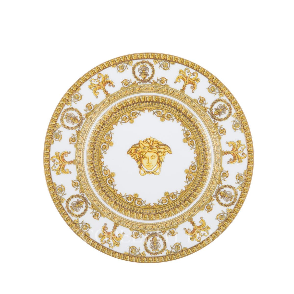 versace i love baroque white golden small plate fine italian design