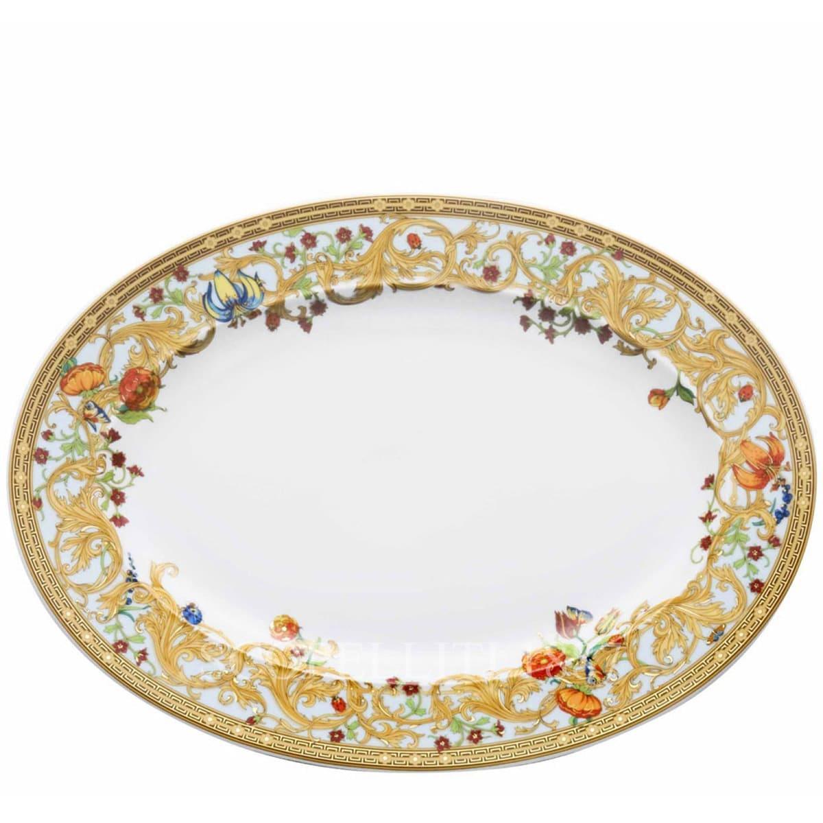 Versace Le Jardin de Versace Oval Platter 40 cm by Rosenthal