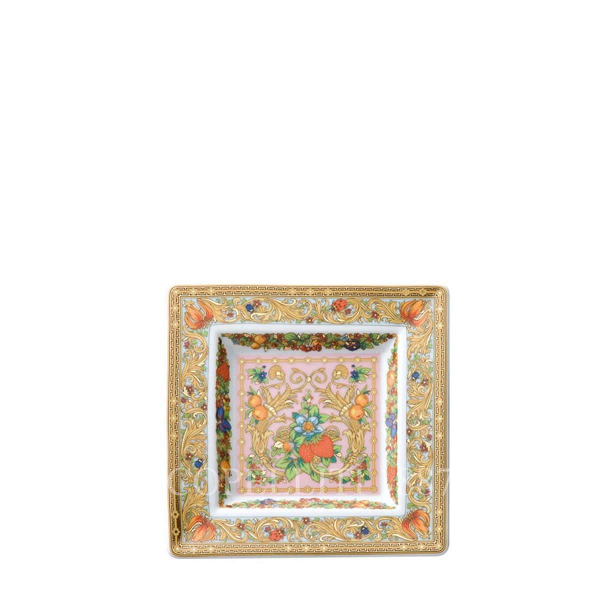 Versace Le Jardin de Versace Square Dish 14 cm by Rosenthal
