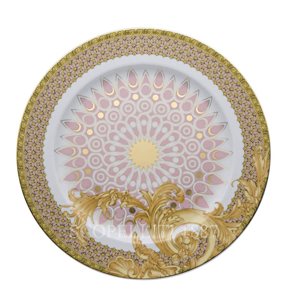versace italian design les reves byzantins service plate
