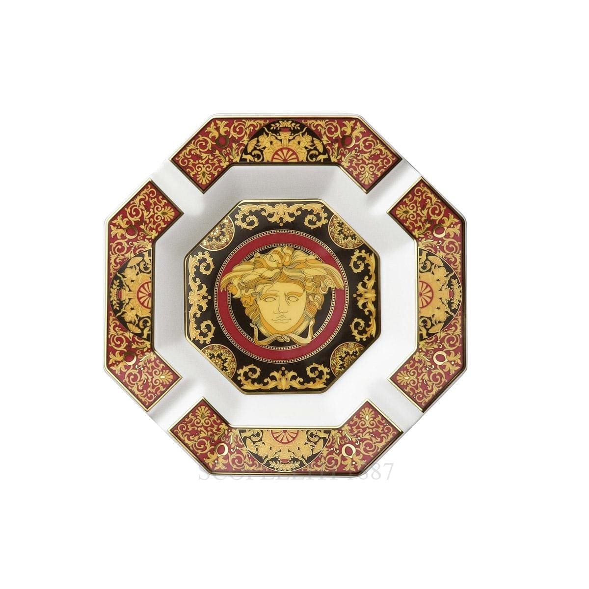 versace italian design medusa ashtray octagonal
