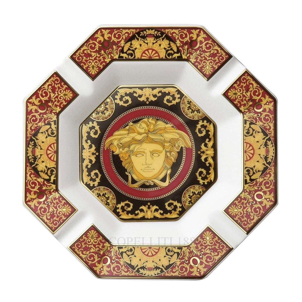 versace italian design medusa ashtray octagonal large