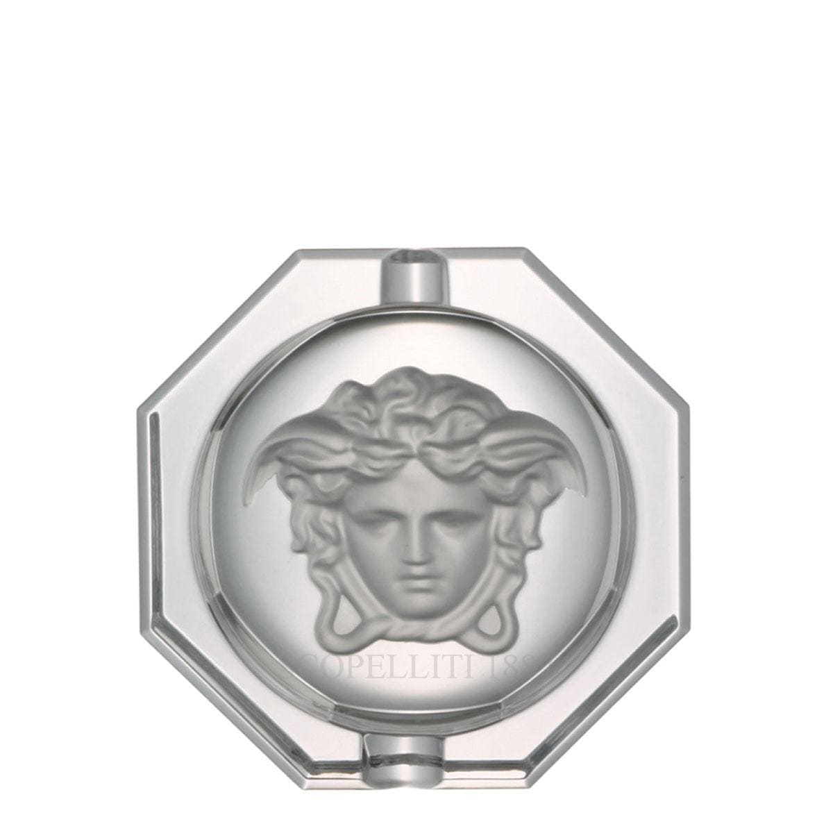 versace italian design medusa lumiere crstal ashtray medium