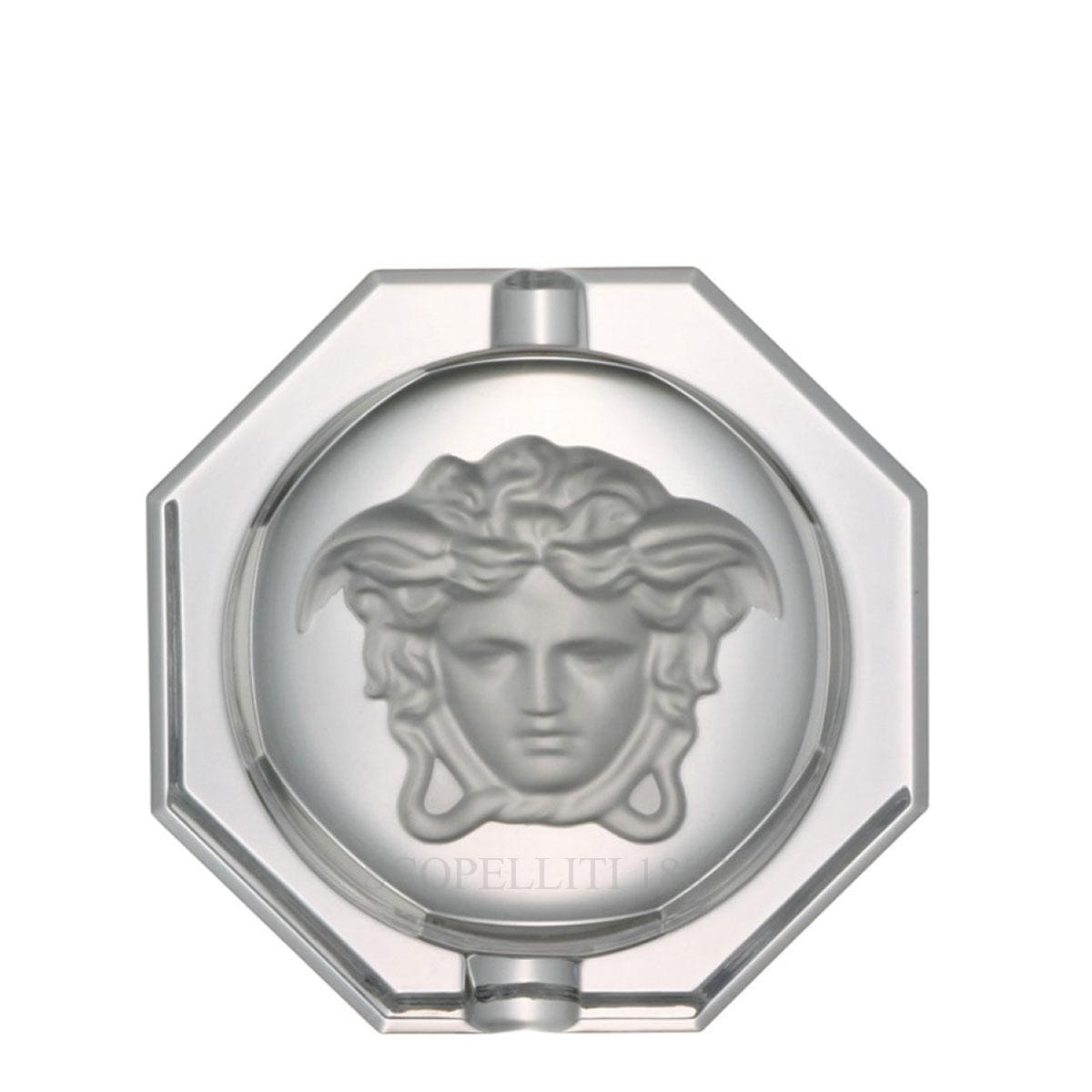 versace italian design medusa lumiere crstal ashtray large